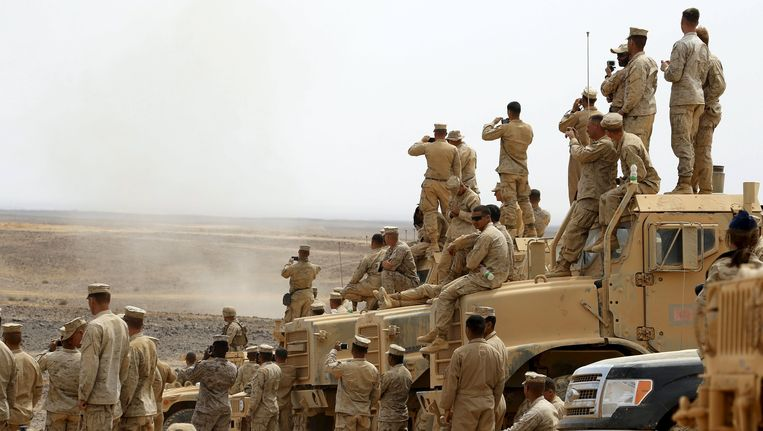 Amerikaanse militairen in Jordanië. Beeld reuters