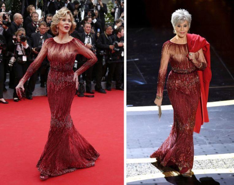 Jane Fonda toen & nu.
