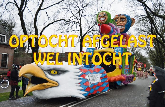 De aankondiging waarmee Stichting Jeugdcarnaval Waspik op Facebook de afgelasting aankondigt.