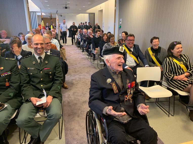 Alois Van Craen tijdens de viering van zijn 100ste verjaardag