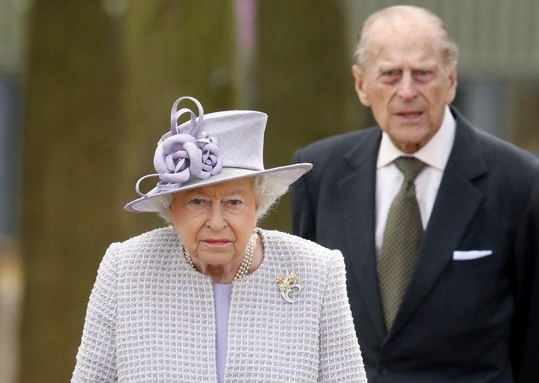 Queen Elizabeth (93) en haar man prins Philip (98).