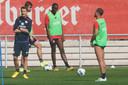 De training bij Mainz, de ploeg van Bruma.