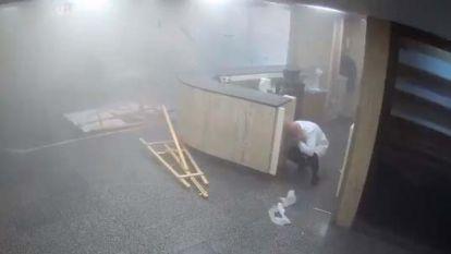 Ziekenhuiscamera's vereeuwigen enorme ravage tijdens explosie Beiroet