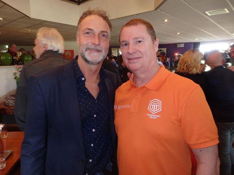 De mannen achter het boek: oud-voetballer Ron Meijer en Ron Brouwer (Fun Foundation) Beeld Schuim