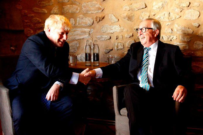 Boris Johnson en Jean-Claude Juncker.
