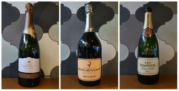 Vignoble du Chant d'Eole, Billecart-Salmon Brut Rosé Champagne en Simonsig Kaapse Vonkel