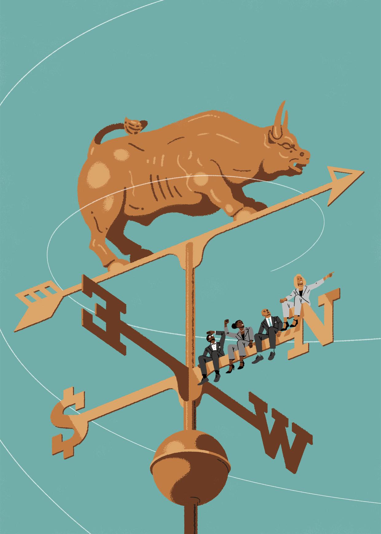 Deze week kwamen grote Amerikaanse bedrijven met een baanbrekend statement: we willen niet langer maximale winst maken voor de aandeelhouder, maar goed doen voor een betere samenleving. Beeld Matt Harrison Clough