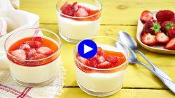 Met dit simpele trucje wordt Italiaanse panna cotta een vederlicht dessert