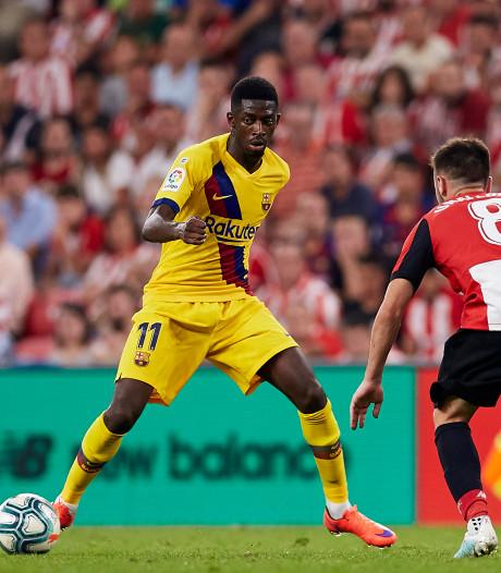 Ook Dembélé valt geblesseerd weg bij Barcelona