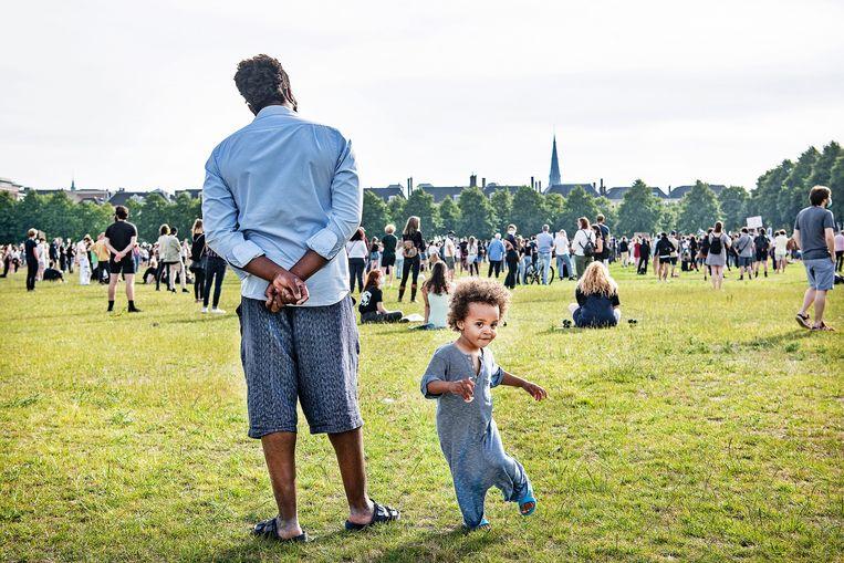 Black Lives Matter-demonstratie in Den Haag, 2 juni 2020. Beeld Guus Dubbelman / de Volkskrant