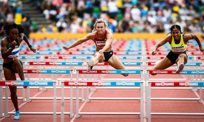 Archiefbeeld: Nadine Visser uit Nederland tijdens de 100 meter horden vrouwen bij de Fanny Blanker-Koen Games 2018 in het FBK stadion.