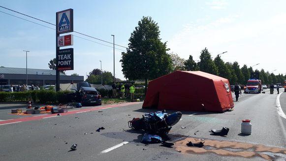 De impact van het ongeval was enorm.