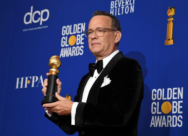 Tom Hanks blij en ge Beeld EPA
