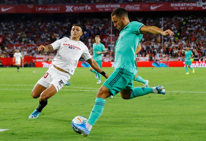 Eden Hazard a failli marquer son premier but avec le Real