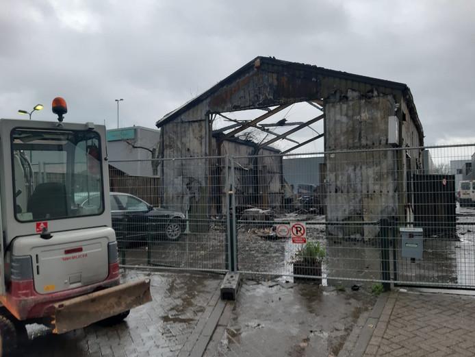 De brand in Helmond veroorzaakte veel schade.