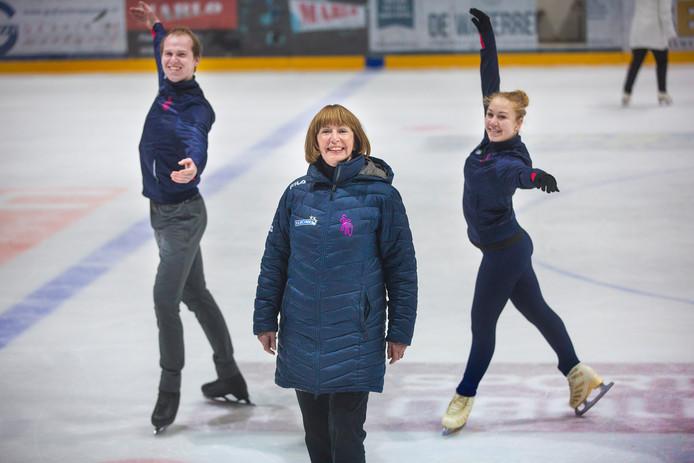 Joan Haanappel op de ijsbaan