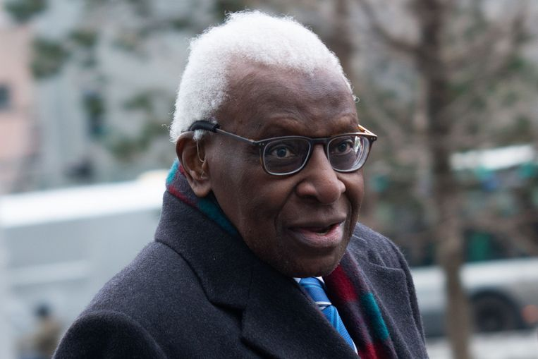 Lamine Diack, door zijn advocaten omschreven als 'een man van waarden en principes'. Beeld AFP