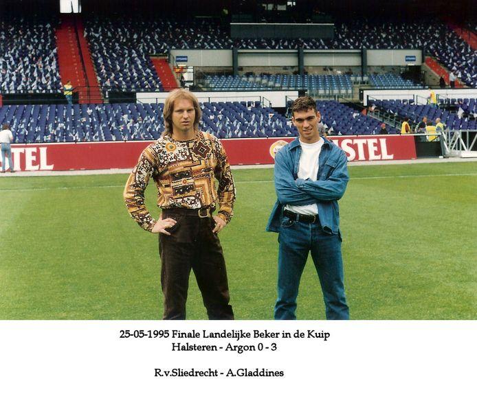 Ad Gladdines (rechts) met Ronald van Sliedrecht