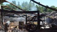 Geen zichtbare asbestvezels buiten perimeter brand