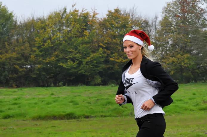 Nadine Broersen houdt voor de tweede keer een Santa Run in Dongen. Foto Jan Stads / Pix4Profs