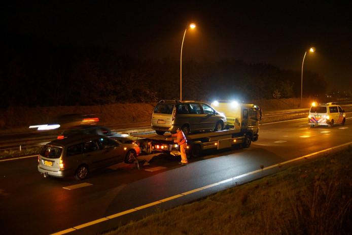 Ongeval met meerdere wagens op N261 bij Kaatsheuvel
