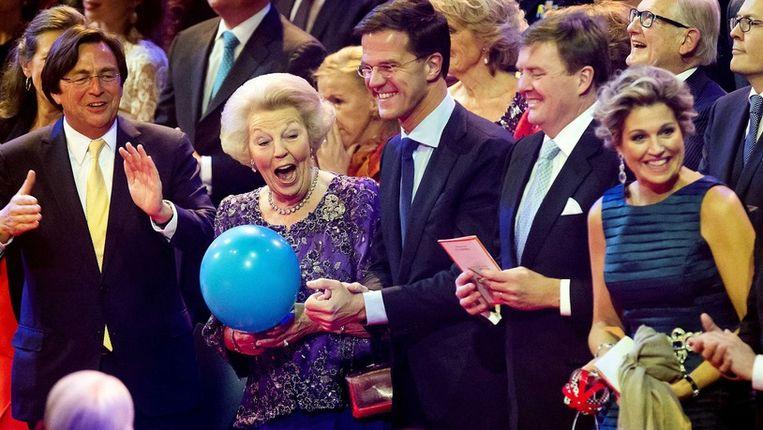 De Nederlandse oud-koningin Beatrix kreeg gisteren een dankfeest.