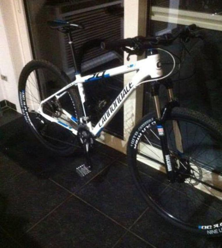 De mountainbike die Severino twee jaar geleden cadeau kreeg voor Kerstmis.
