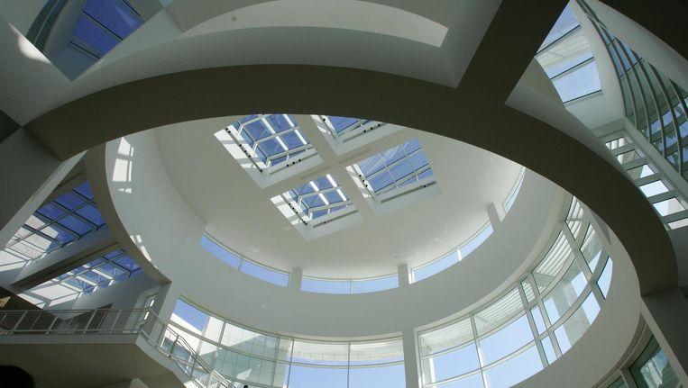 De entree van het J. Paul Getty Museum in Los Angeles. Beeld afp