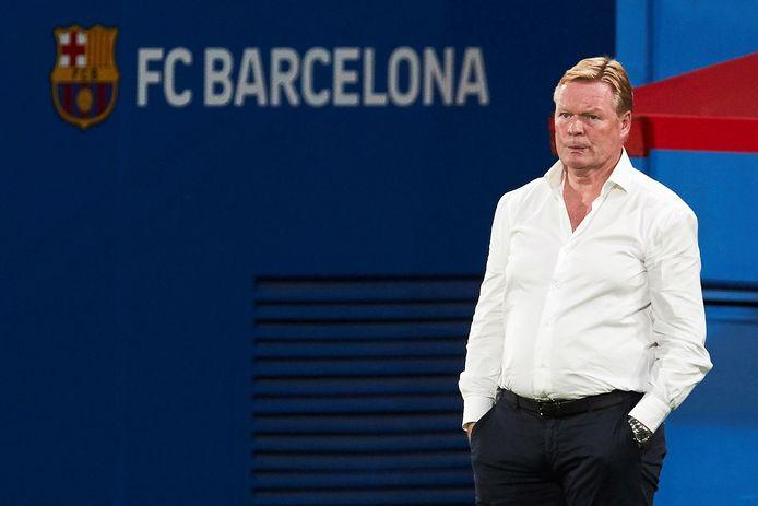 Ronald Koeman bij zijn debuut als Barcelona-coach.
