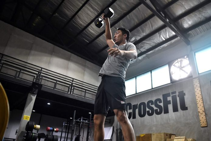 Een CrossFit-Box in Bangkok in Thailand.