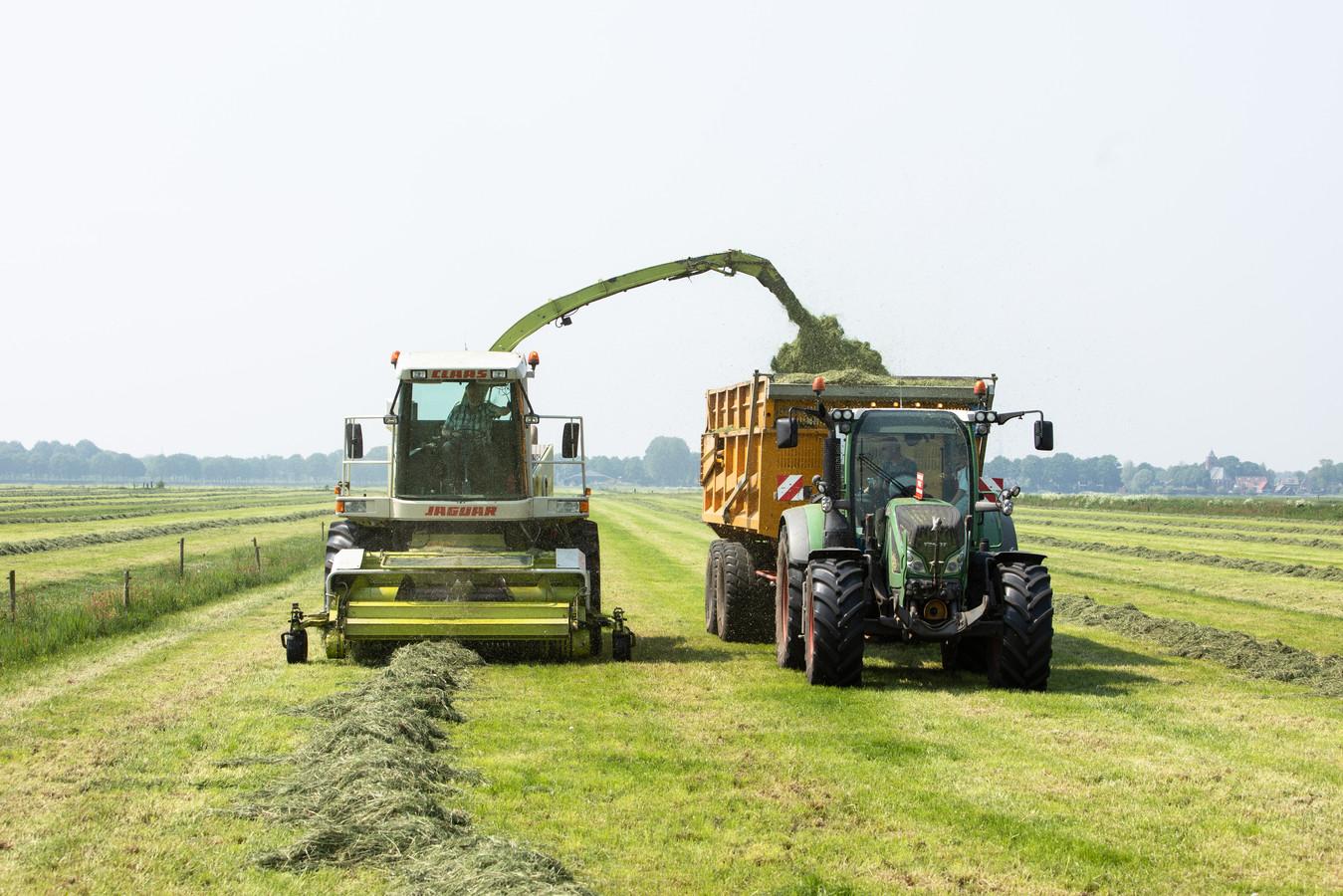 Op de eerste dagen van mei is er door de boeren (en loonwerkers) volop gemaaid.