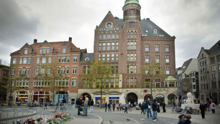 Het gebouw Heredium aan de Dam , waartoe 'De Industrieele Groote Club' en Amsterdam Diamond Center ook behoren. Foto Floris Lok Beeld