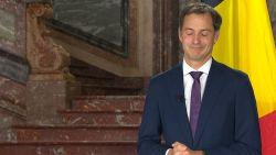 """""""Premier Sophie Michel... Wilmès"""", De Croo verspreekt zich tijdens eerste minuten als nieuwe premier"""