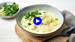 De beste smaken van Azië zitten in deze heerlijk frisse maaltijdsoep