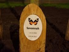 Herdenkingsboom voor vermoorde Savannah uit Bunschoten