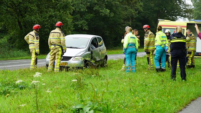 Van deze auto gingen de airbags niet af.