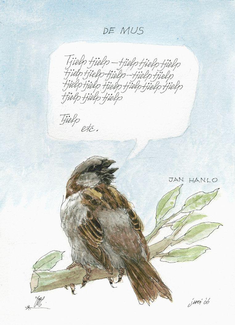 'De Mus' (Tjielp, tjielp) van Jan Hanlo. Beeld Peter Vos