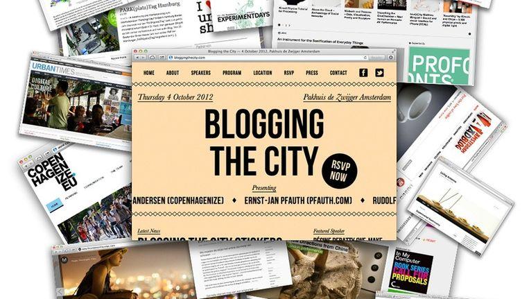 Uit binnen- en buitenland komen 15 bloggers naar Pakhuis de Zwijger Beeld Blogging The City
