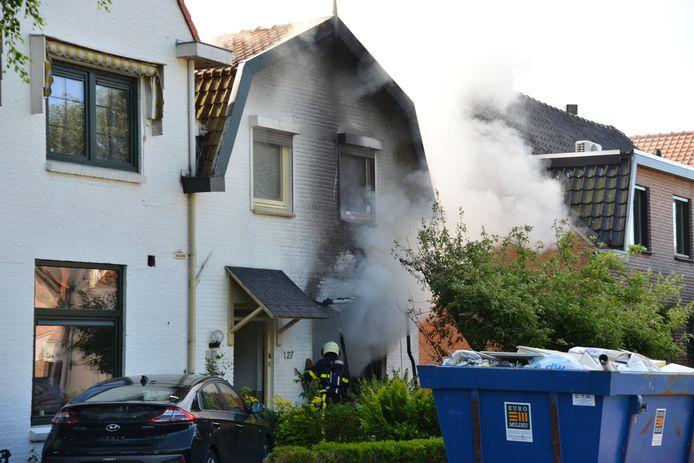Woningbrand aan Ulvenhoutselaan in Breda.