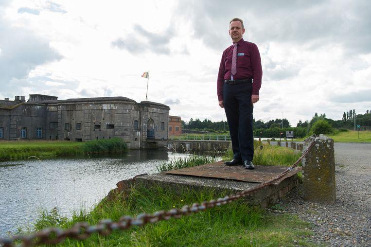 Nieuwe sitemanager Herbart Beyers aan het Fort van Breendonk.