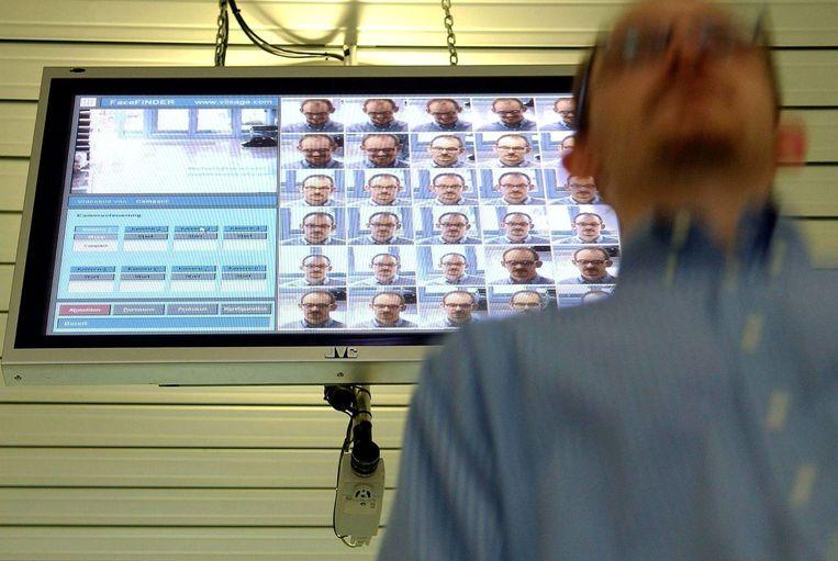 Een systeem voor gezichtsherkenning. Foto EPA  Beeld EPA