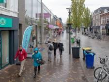 Eén kant op lopen in het centrum van Veenendaal
