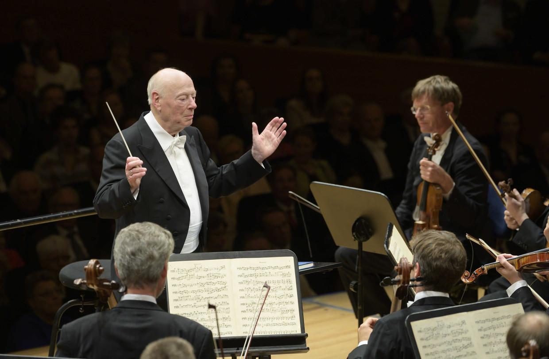 Bernhard Haitink tijdens zijn allerlaatste concert in Luzern.