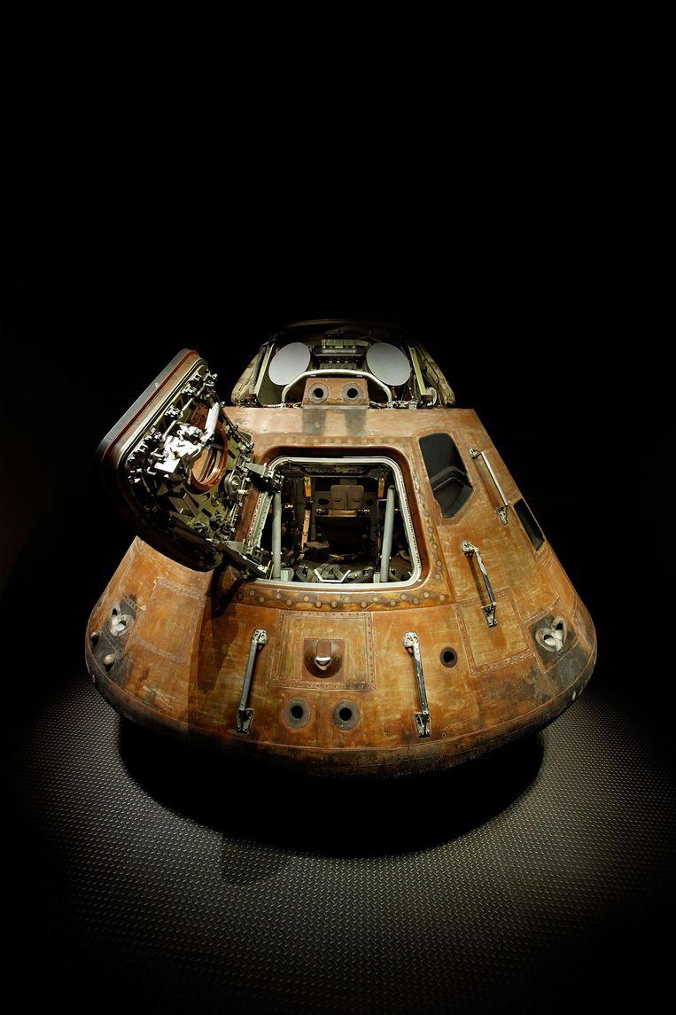 De capsule waarmee Mitchell na de Apollo 14-missie terug naar de aarde reisde. Beeld ANP