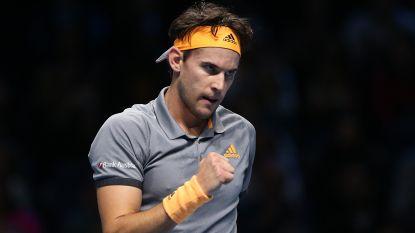 Thiem vloert titelverdediger Zverev en vervoegt Tsitsipás in eindstrijd ATP Finals