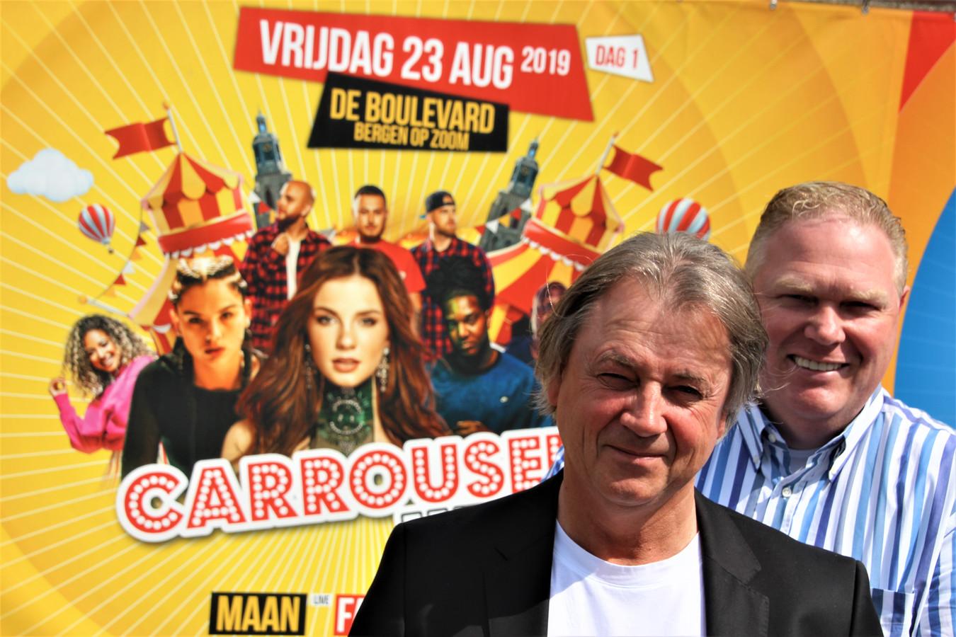 Organisatoren Aart Stuij en Jan Geers hebben onder andere Maan en Gerard Joling weten te strikken voor hun festival.