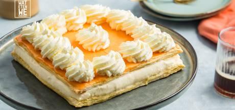 Wat Eten We Vandaag: Oranje tompoucentaart