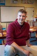Timon Arentsen in zijn klaslokaal.