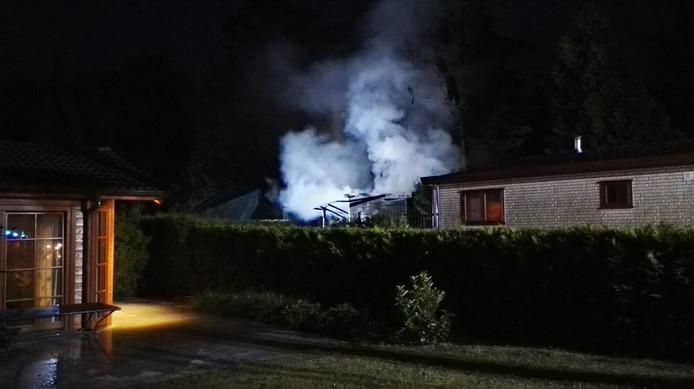 De brand woedde in een van de bungalows op het recreatiepark