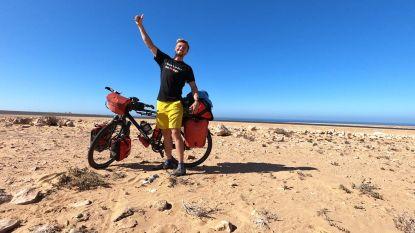 Jelle Veyt arriveert in Senegal, één derde van fietsavontuur naar Kilimanjaro achter de rug